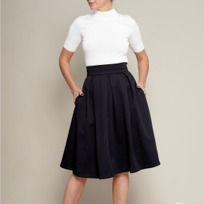 #1101 - Pleated Skirt by Just Patterns