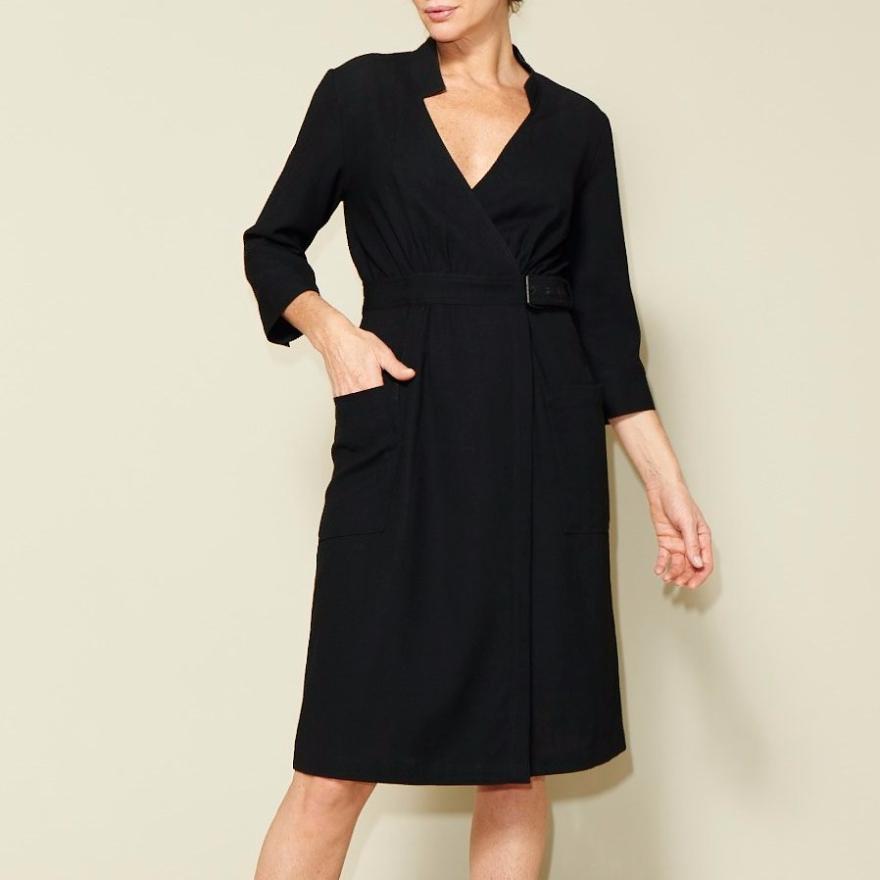 Linda wrap dress by Just Patterns