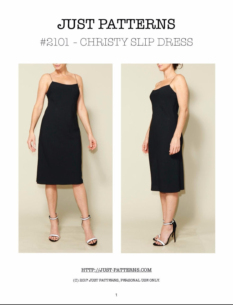 Just Patterns Cover Christy Slip Dress