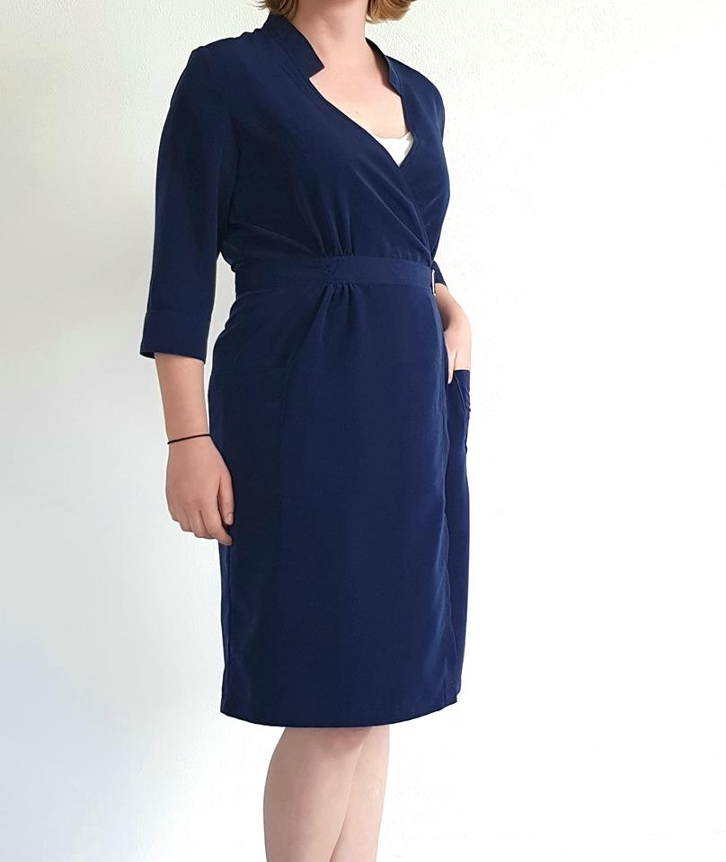 Just Patterns Linda Wrap Dress Hilde