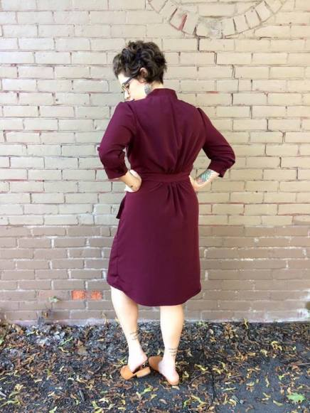 Just Patterns Linda Wrap Dress by Jess Sews Clothes