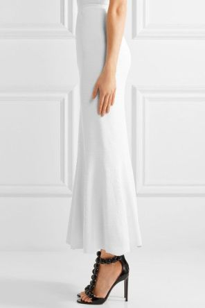Alaia Fluted Maxi Skirt from Net a Porter