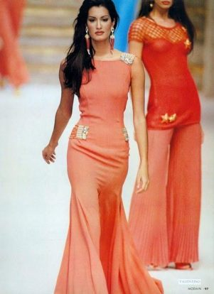 Yasmeen Ghauri for Valentino, early 90's